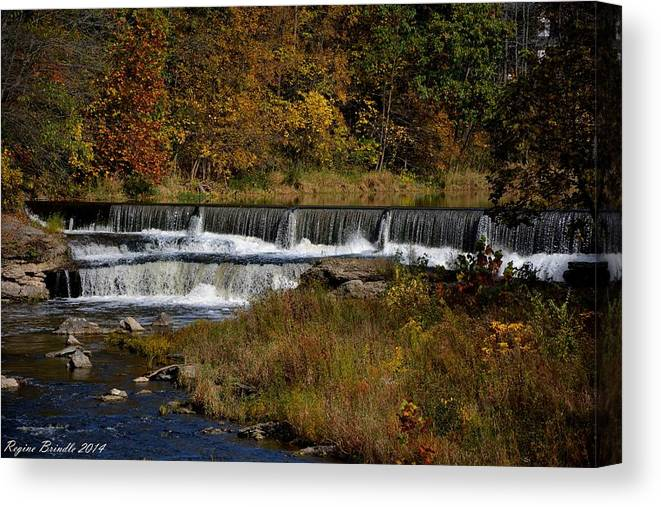 Waterfalls Canvas Print featuring the photograph Pipe Creek Falls by Regine Brindle