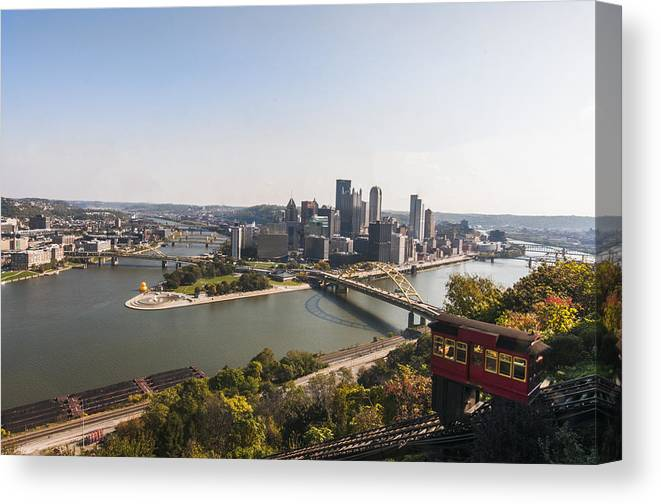 Pittsburgh Canvas Print featuring the photograph Pittsburgh by Kayla Kyle