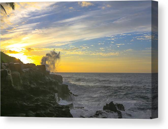 Sam Amato Canvas Print featuring the photograph Poipu Kauai Sunrise by Sam Amato