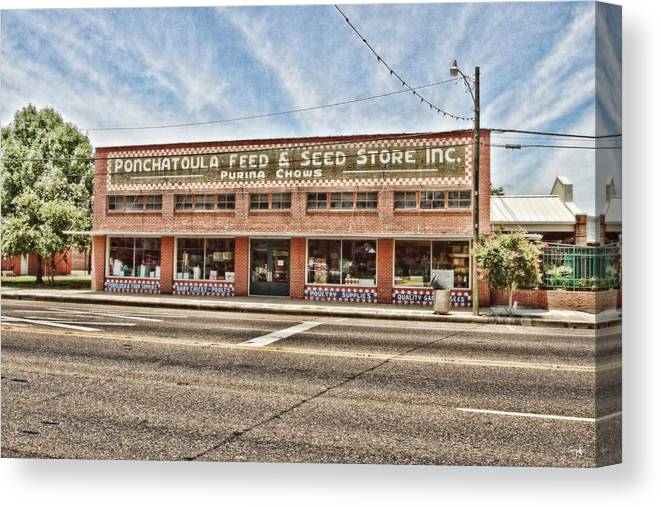 Ponchatoula Canvas Print featuring the photograph Ponchatoula Feed And Seed by Scott Pellegrin