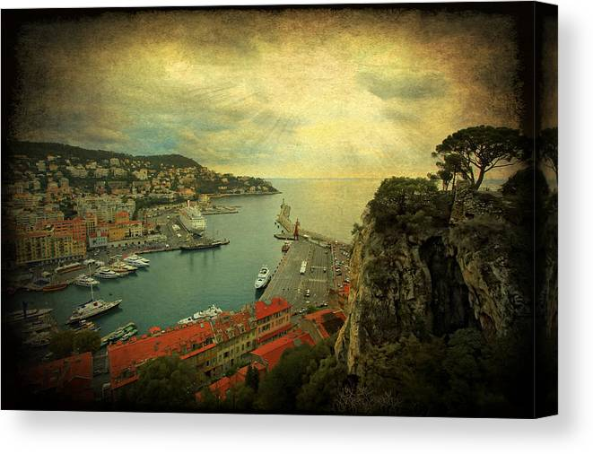 Port Of Nice Canvas Print featuring the photograph Port Of Nice by Yelena Rozov