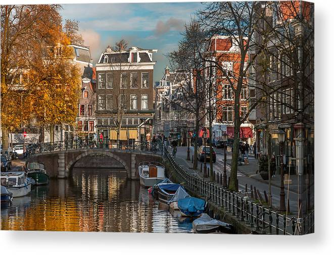 Holland Amsterdam Canvas Print featuring the photograph Prinsengracht 807. Amsterdam by Juan Carlos Ferro Duque