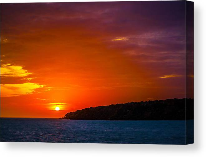 Sunset Canvas Print featuring the photograph Purple And Orange Sunset by Jess Kraft