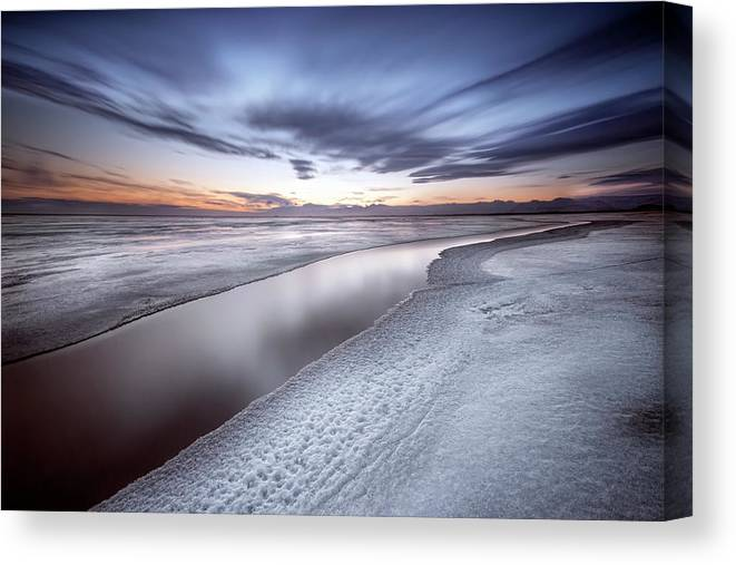 Ice Canvas Print featuring the photograph Quiet Place by Liloni Luca