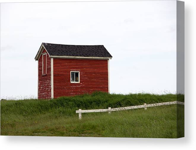 Fishing Shed Canvas Print featuring the photograph Red Shed by Crystal Fudge