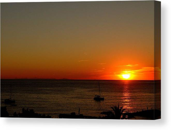 Sunset Canvas Print featuring the photograph Red Sunset by Irene Carrea