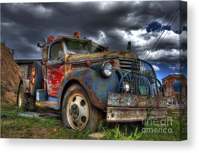 Chevrolet Canvas Print featuring the photograph Retired by Tony Baca