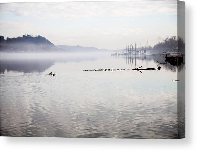 River Canvas Print featuring the photograph Rivers Mist by Lee Wellman