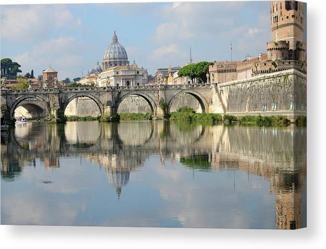 Arch Canvas Print featuring the photograph Rome by Madzia71