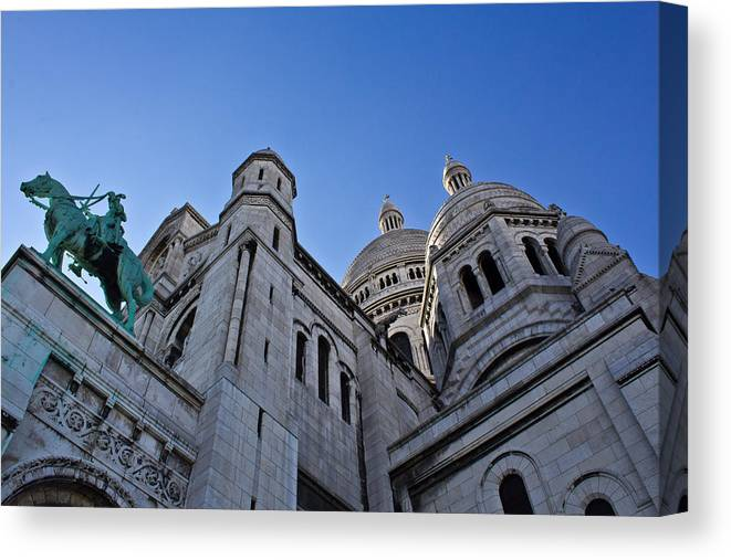 Sacre Canvas Print featuring the photograph Sacre Coeur by Chris Whittle