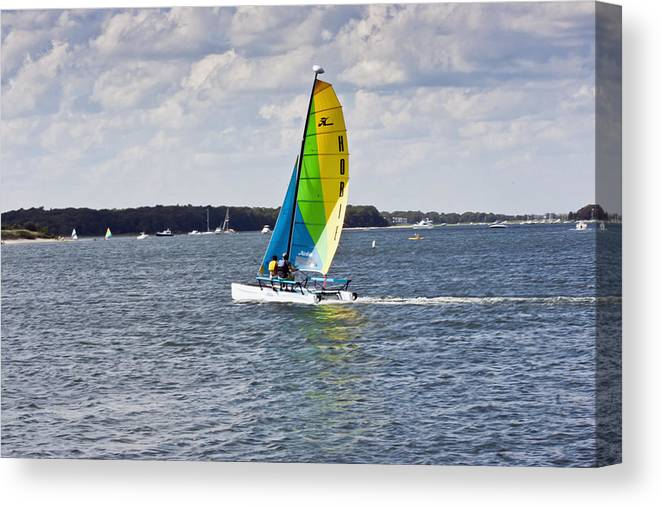 Pocasset Canvas Print featuring the photograph Sailing Along by Dennis Coates