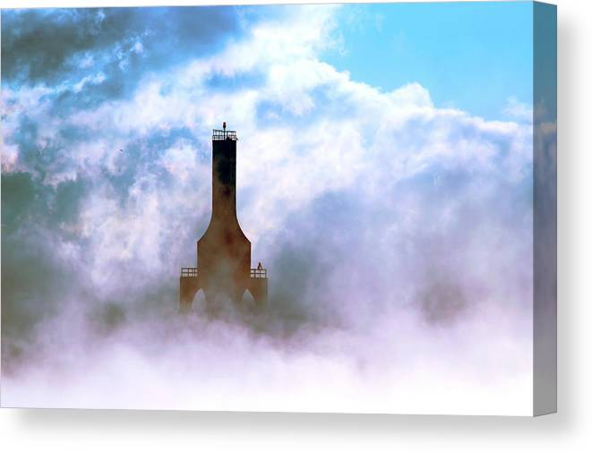 Lighthouse Canvas Print featuring the photograph Sailors Hope by James Meyer