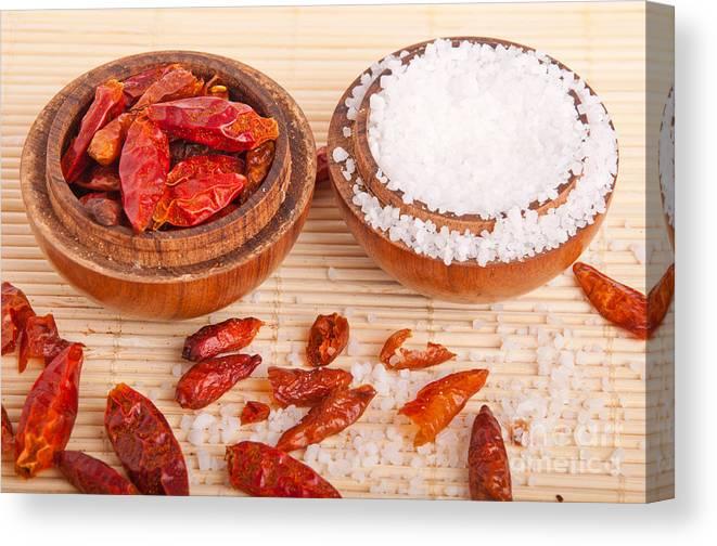 Spices Canvas Print featuring the photograph Salt And Piri Piri by Luis Alvarenga