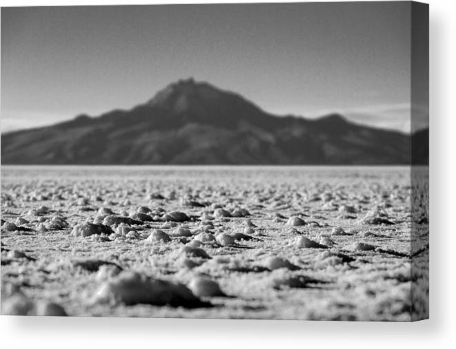 Harvest Canvas Print featuring the photograph Salt Flat Surface Black And White by For Ninety One Days