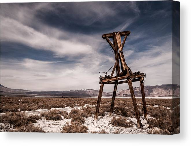 California Canvas Print featuring the photograph Salt Tram by Cat Connor