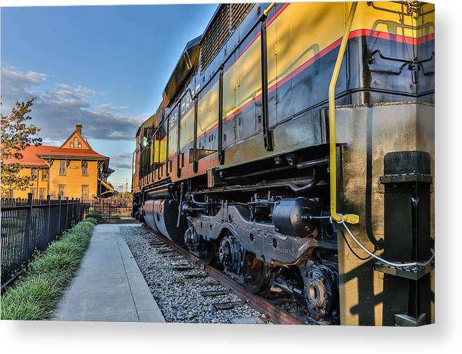 Hamlet Canvas Print featuring the photograph Seaboard Engine by Jimmy McDonald