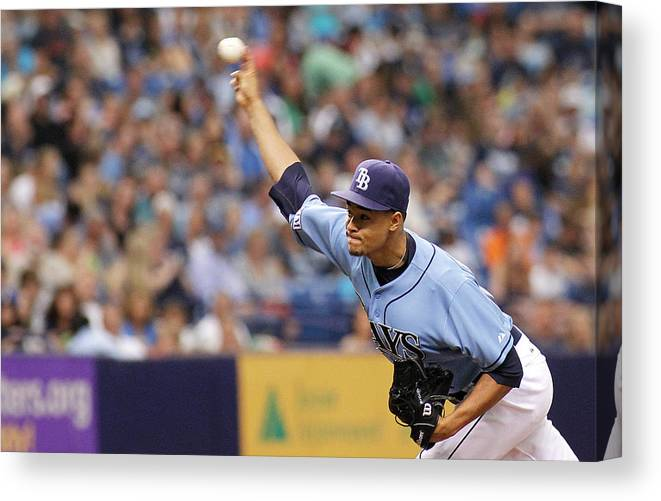 American League Baseball Canvas Print featuring the photograph Seattle Mariners V Tampa Bay Rays by Brian Blanco