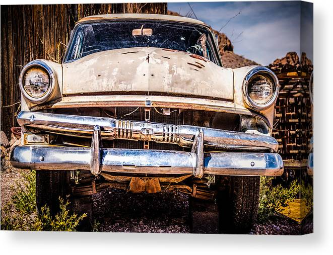 1953 Ford Antique Automobile Canvas Print featuring the photograph Seen Better Days by Onyonet Photo Studios