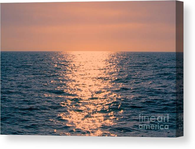 Sunset Canvas Print featuring the photograph Setting Sun At Sea by Loretta Jean Photography