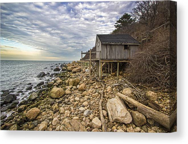 Shack Canvas Print featuring the photograph Shack On The Sound by Robert Seifert