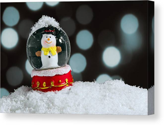 Snow Canvas Print featuring the photograph Snow Globe by Carlos Caetano
