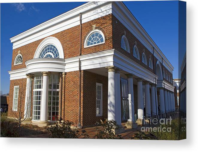 Special Collections Library Canvas Print featuring the photograph Special Collections Library University Of Virginia by Jason O Watson