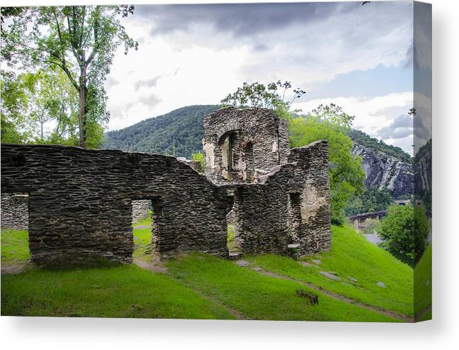 St. Canvas Print featuring the photograph St. John's Episcopal Church Ruins Harpers Ferry Wv by Bill Cannon