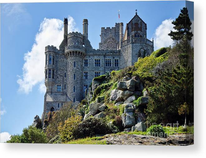 St Michaels Mount Canvas Print featuring the photograph St Michael's Mount 1 by Susie Peek