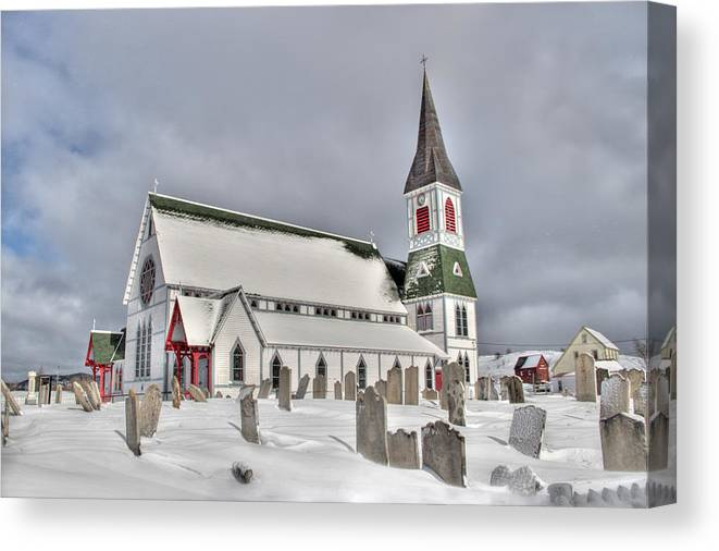 Neo-gothic Canvas Print featuring the photograph St. Paul's Anglican Church by Crystal Fudge