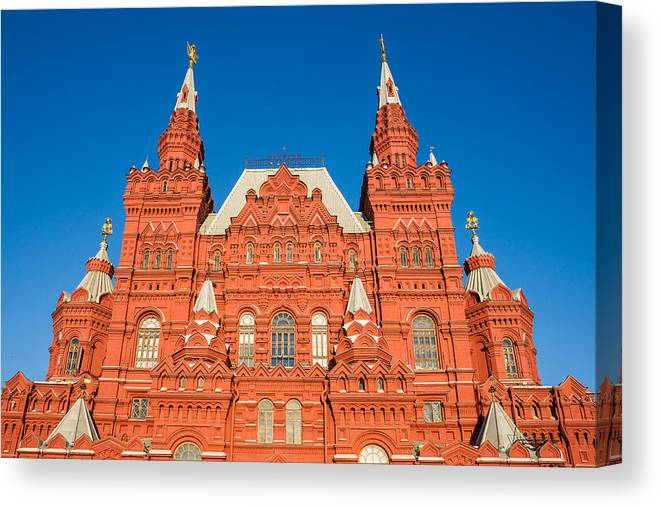 Architect Canvas Print featuring the photograph State Museum Of Russian History by Alexander Senin