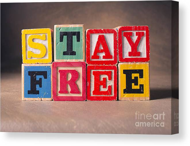 Stay Free Canvas Print featuring the photograph Stay Free by Art Whitton
