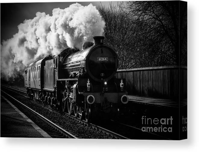 Train Canvas Print featuring the photograph Steam Train by Darren Eves
