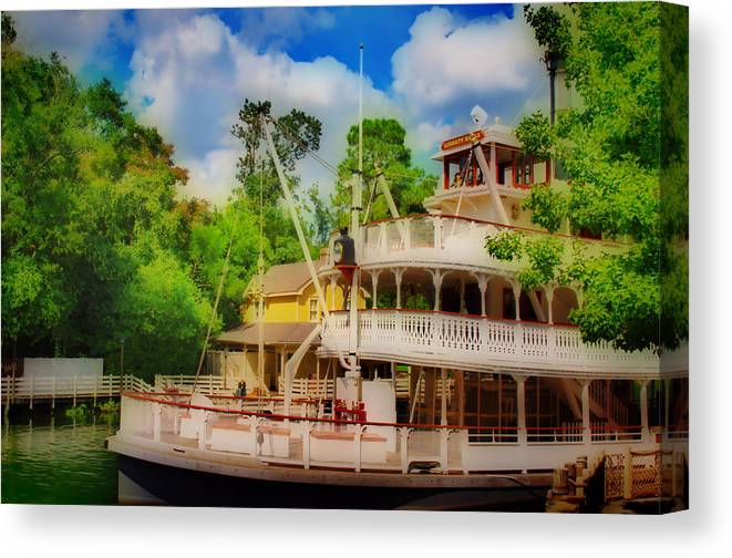 Hdr Canvas Print featuring the photograph Steamboat Hdr by Thomas MacPherson Jr