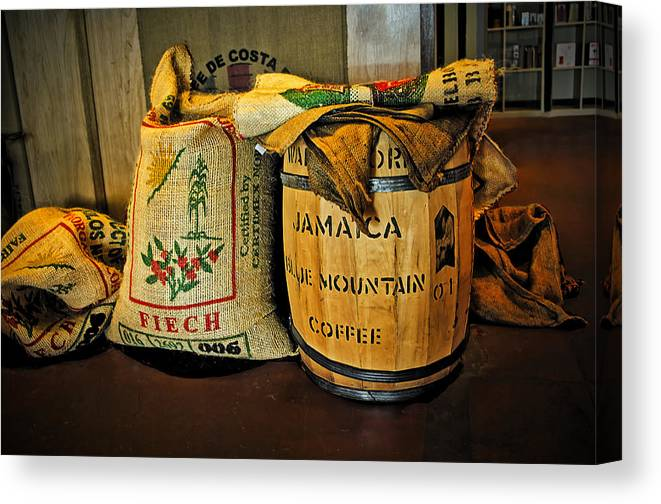 Food Canvas Print featuring the photograph Still Life At Yahava Koffeeworks by Tony Crehan