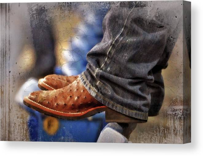 Adult Canvas Print featuring the photograph Stockshow Boots IIi by Joan Carroll