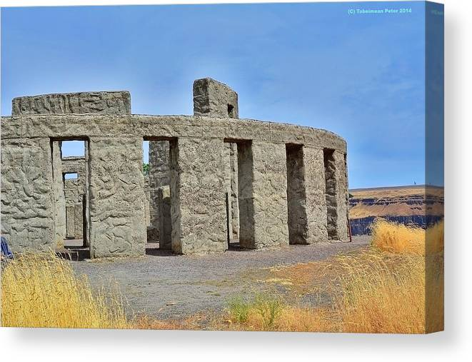 Tobeimean Peter Canvas Print featuring the photograph Stonehenge War Memorial by Tobeimean Peter
