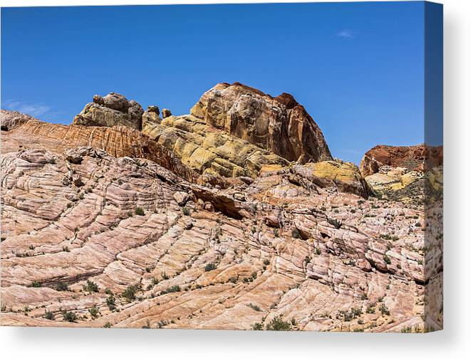 Valley Of Fire Canvas Print featuring the photograph Stones Of Color by Eric Swan