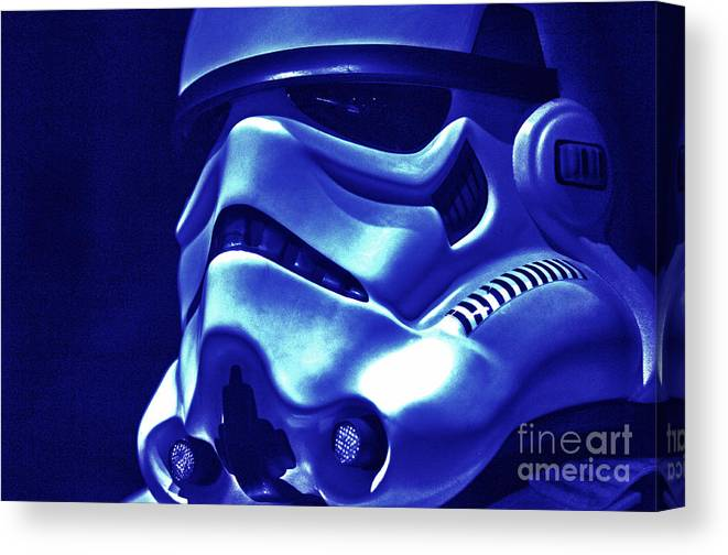 Stormtrooper Canvas Print featuring the photograph Stormtrooper Helmet 21 by Micah May