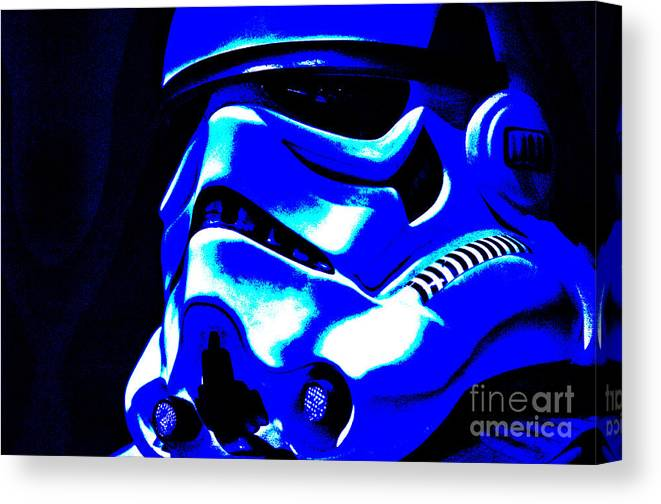 Stormtrooper Canvas Print featuring the photograph Stormtrooper Helmet 22 by Micah May
