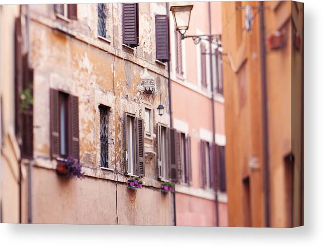 Italy Canvas Print featuring the photograph Streets Of Rome by Kim Fearheiley