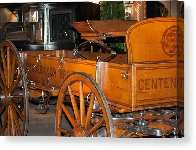 Studebaker Canvas Print featuring the photograph Studebaker Centennial Wagon by Craig Hosterman