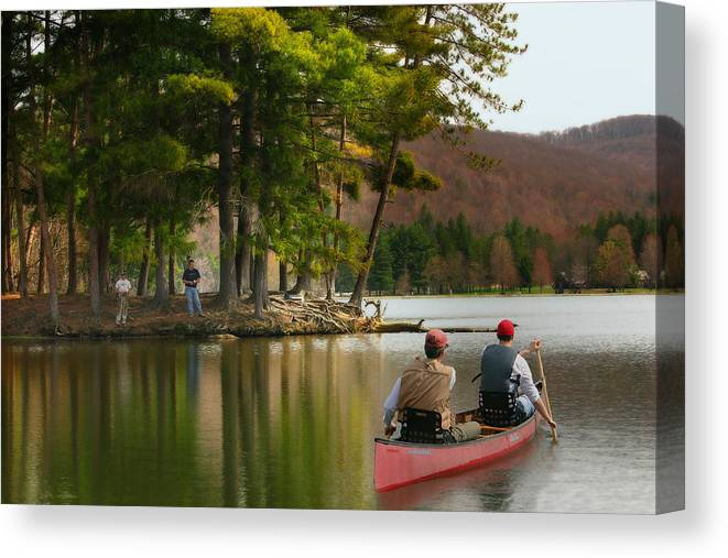 Canoe Canvas Print featuring the photograph Summer Fun by Cindy Haggerty