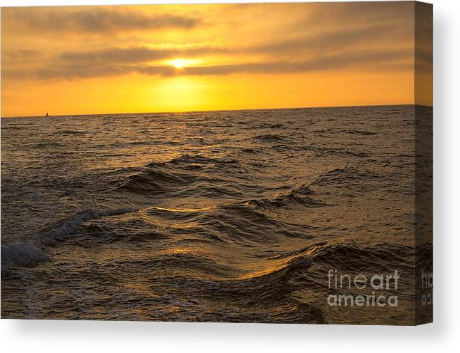Sunset Canvas Print featuring the photograph Summer Sunset by Loretta Jean Photography