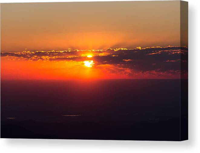 Fourteener Canvas Print featuring the photograph Sunrise Above 14000 Feet by Tony Hake