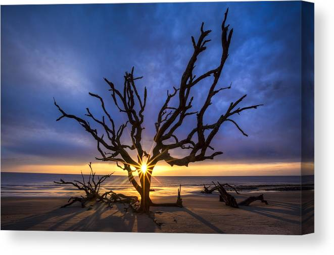 Clouds Canvas Print featuring the photograph Sunrise Jewel by Debra and Dave Vanderlaan