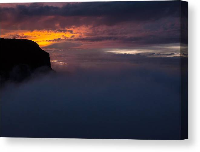 Sunset Canvas Print featuring the photograph Sunset At Nevado Del Ruiz by Jess Kraft