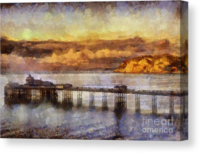 Digital Canvas Print featuring the photograph Sunset On Little Orme by Karen Ann Jones
