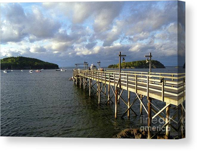 Bar Harbor Sunset Canvas Print featuring the photograph Sunset Over Bar Harbor by Allen Beatty