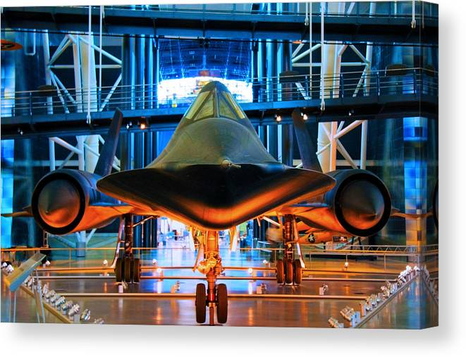 Sr-71 Canvas Print featuring the photograph Surprise by Mitch Cat
