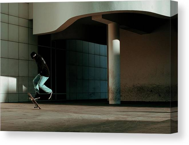 Street Canvas Print featuring the photograph Suspension by Ignasi Raventos